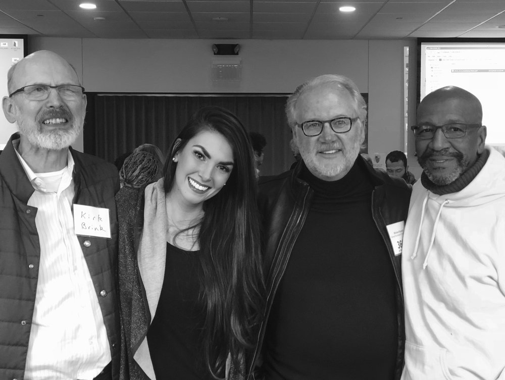 L to R: Dr. Kirk L. Brink, Mia Saba, Dr. Richard Raubolt, Tyree Guyton