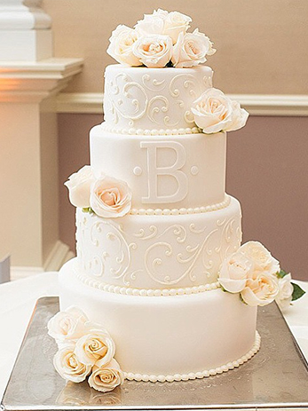 Tier Square Wedding Cakes
