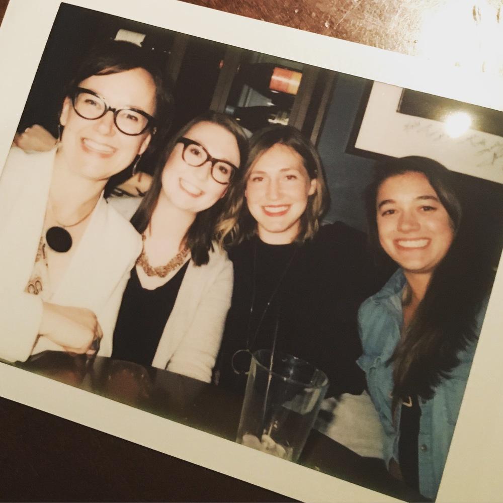 Facebook Fellows with Kristina Halvorson. From left to right: Kristina Halvorson, Jeana Ridley, me, Sydney Harris. Photo credit:Confab.