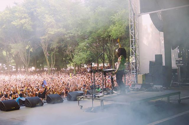 First time at @lollapalooza and it was amazing! Shout-out to the tree people, I see u.