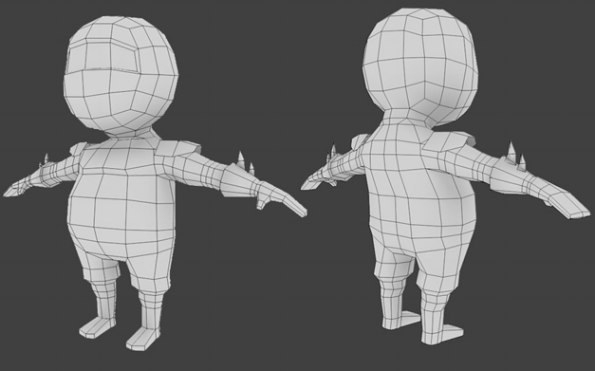 Modeling a low polygon character