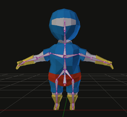 Armature linked to the 3D mesh