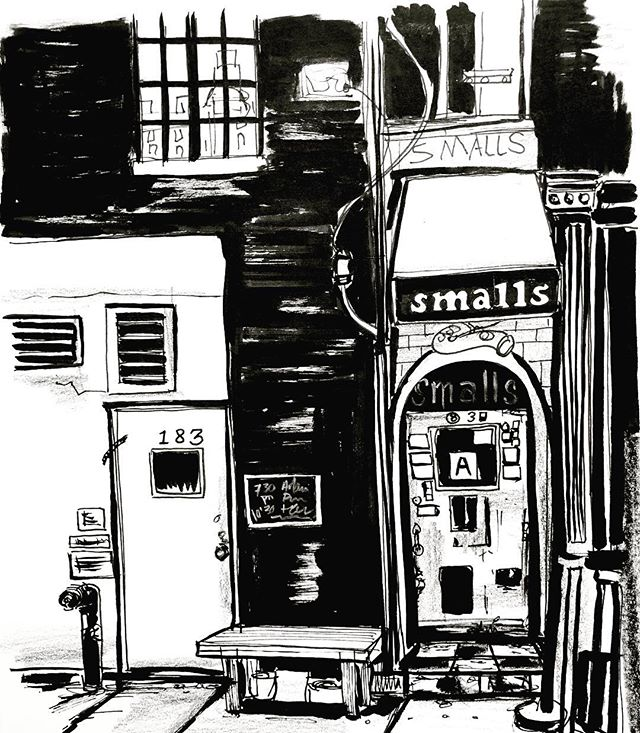 Day 17. #sketch #sketchbook #drawing #illustration #ink #inktober #inktober2017 #inkdrawing #inkonpaper #smallsjazzclub #jazz #nyc