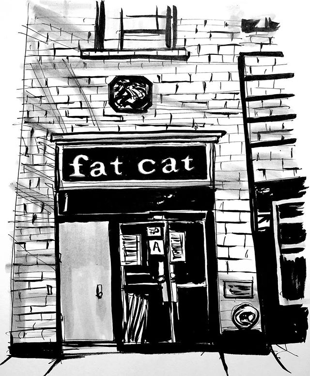 Day 19. #sketchbook #sketch #sketches #drawing #illustration #inktober #inktober2017 #ink #inkdrawing #inkandbrush #fatcat #fatcatnyc #nyc #urbansketch