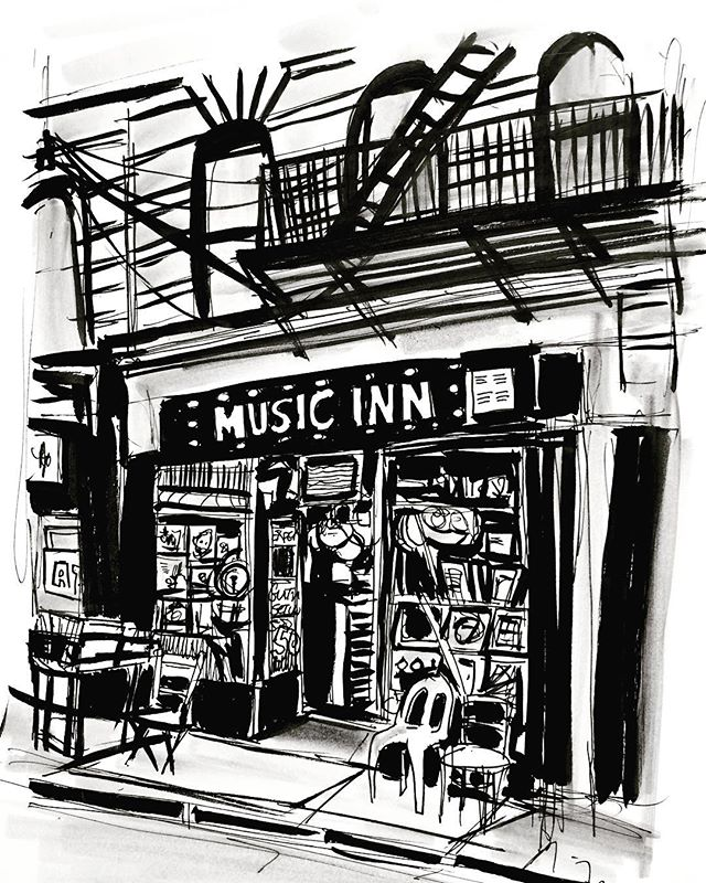 Day 21. #sketchbook #sketch #drawing #illustration #ink #inktober2017 #inkdrawing #inktober #inkonpaper #nyc #musicinnyc #musicinn