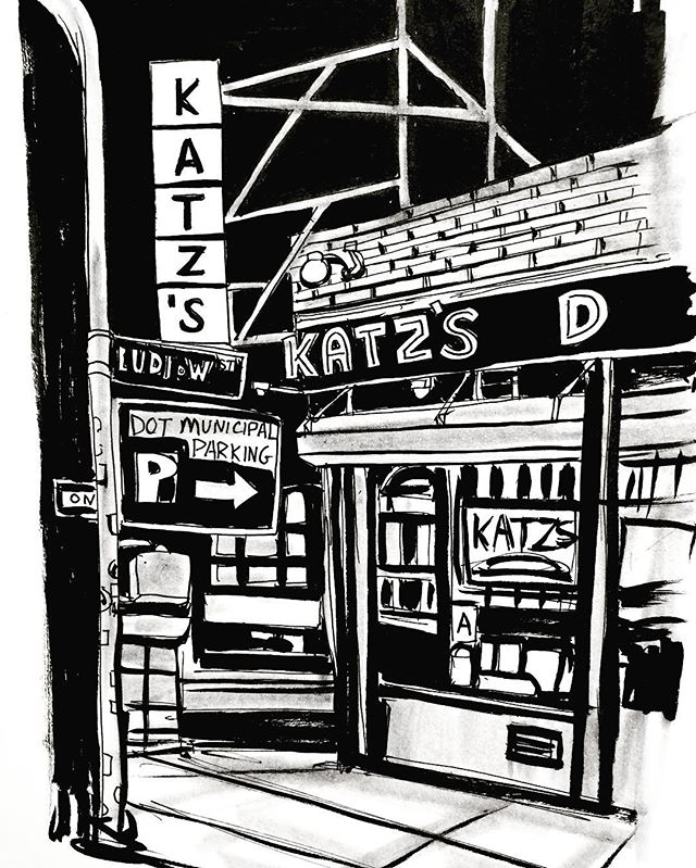 Day 25. #inktober2017 #inktober #sketchbook #sketch #drawing #illustration #ink #inkonpaper #inkandbrush #inkandpen #artagram #katz #katzdeli #nyc #lowereastside #les