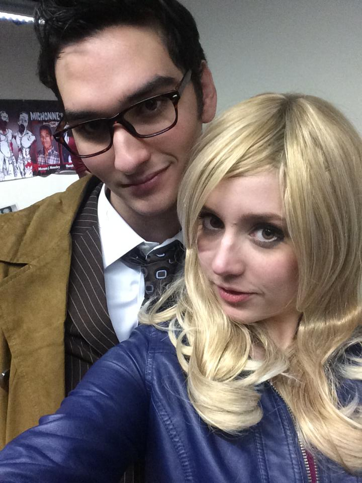 Chris Doherty and Allie Eibler as the 10th Doctor and Rose Tyler