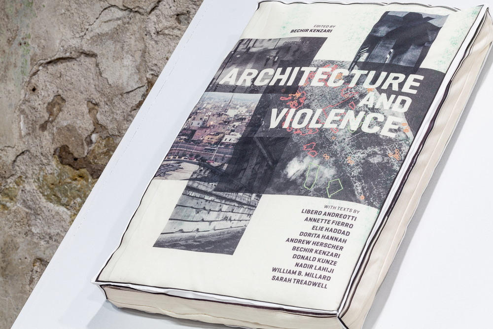 Kristin Nelson, Architecture and Violence, screenprinted polyester, 2014.