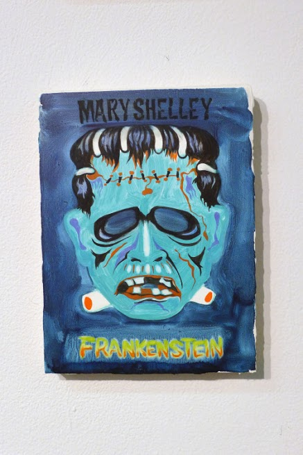 Peggy Kouroumalos, Frankenstein, 2015. Oil on panel, 8 x 6.5 inches