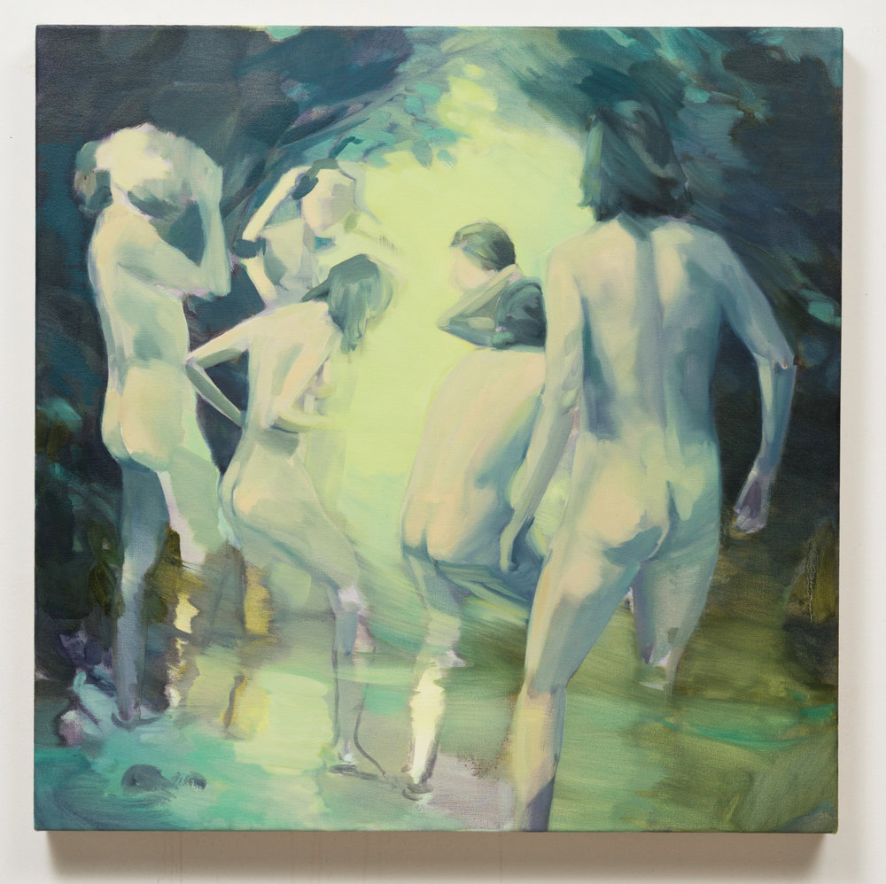 Corri-Lynn Tetz,  Clearing , 2017 oil on canvas, 30 x 30 inches