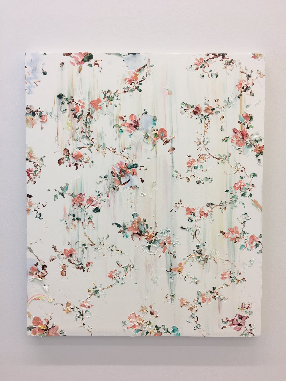 Tess Michalik, Untitled, 2018. Oil on primed wood panel, 24 x 20 inches