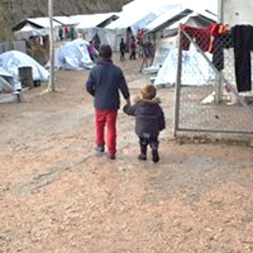 Children, Souda Refugee Camp, Chios Island, Greece