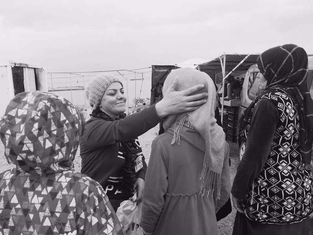 Natan Social Worker with Refugees,  Souda Refugee Camp, Chios Island, Greece