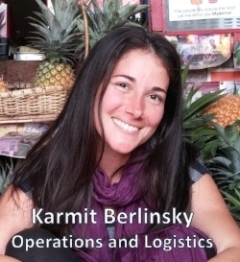 Karmit BERLINSKY  worked in hi-tech for 10 years, mainly in project and product management, and needed a change in scenery. She set off to circle the world for over a year, to explore new cultures and volunteer. This quest lead to the decision to leave the private sector and join an organization focused on making a change where her project management skills and expertise can benefit others, especially in dealing with natural disaster relief. Karmit joins the Operations Team as Coordinator of Operations and Logistics.