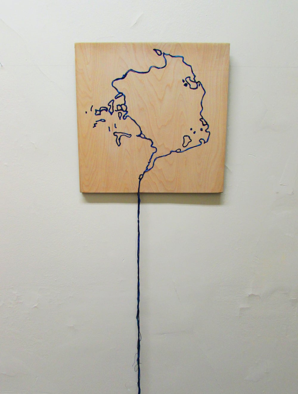 The Arctic Meltdown, 1979 Embroidered plywood 15.5 x 15.5 x 68 inches 2016.