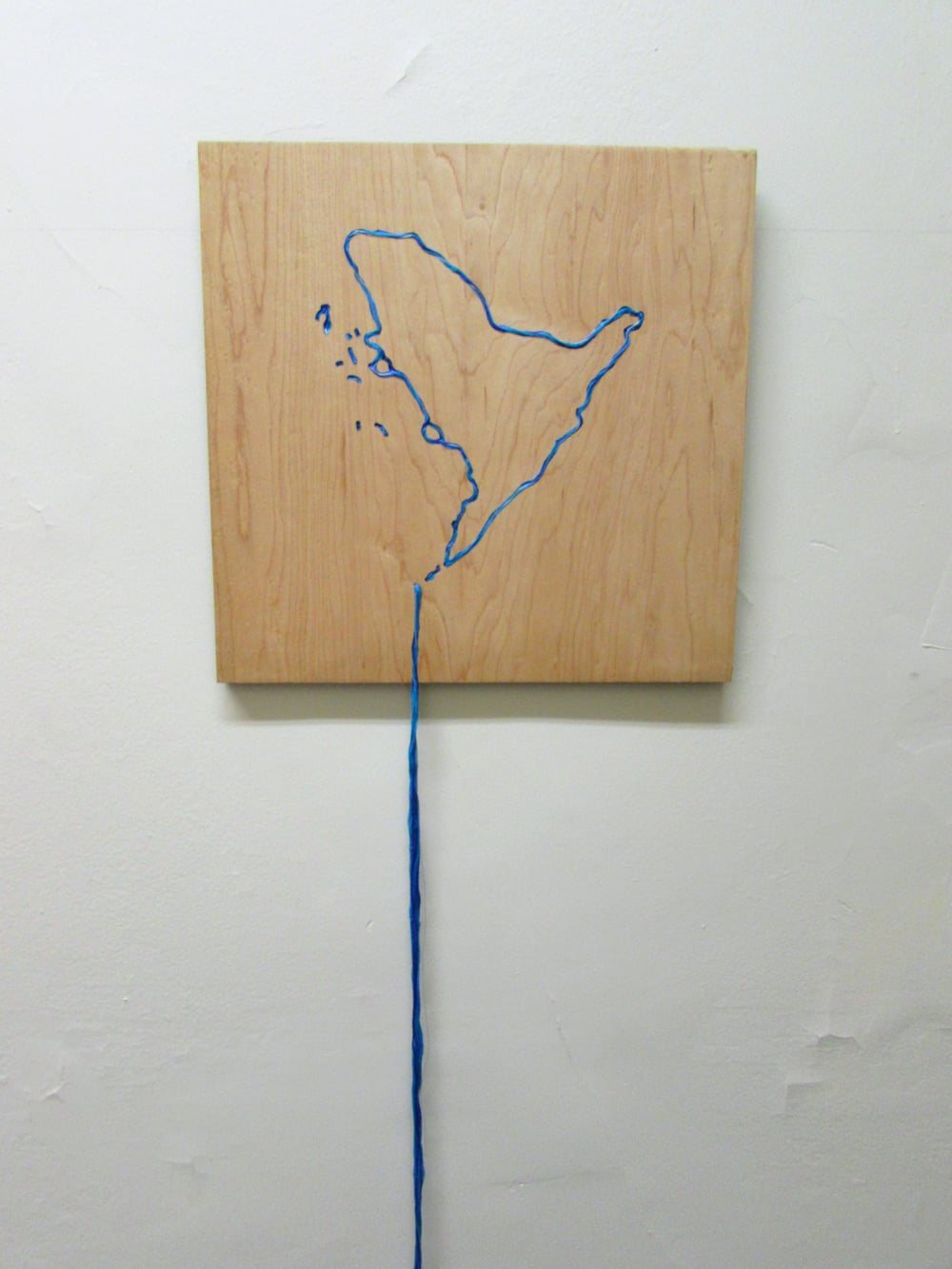 The Arctic Meltdown, 2007 Embroidered plywood 15.5 x 15.5 x 68 inches2 016.