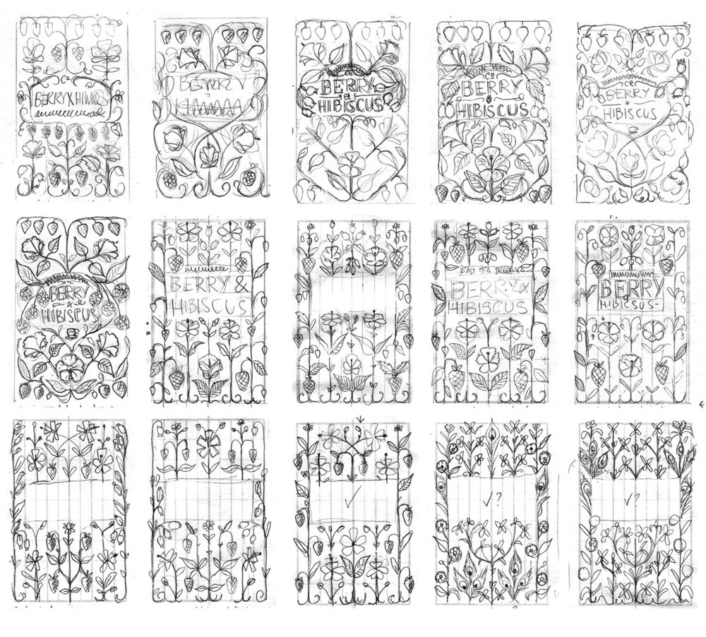 Original sketch progression