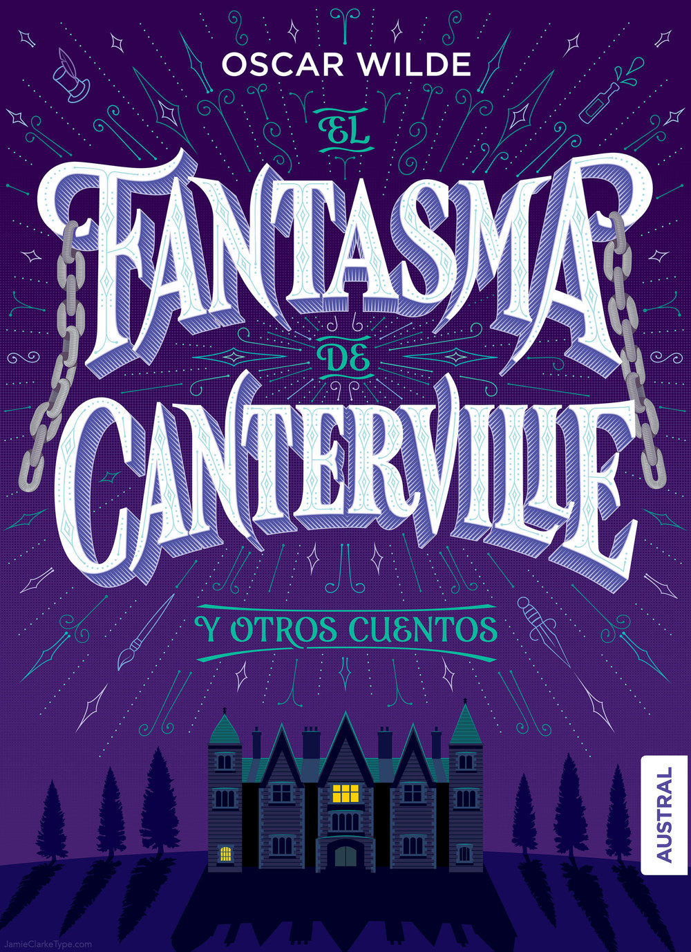 The Final Artwork for the cover, El fantasma de Canterville y otros cuentos.