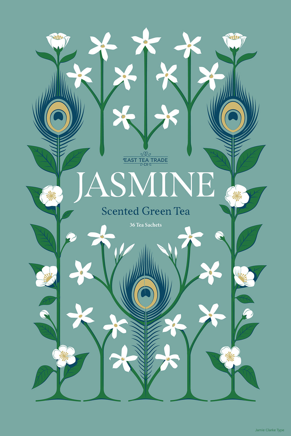 Jasmine Tea. In China, where the majority of Jasmine tea is produced, the peacock feather symbolises dignity and beauty.