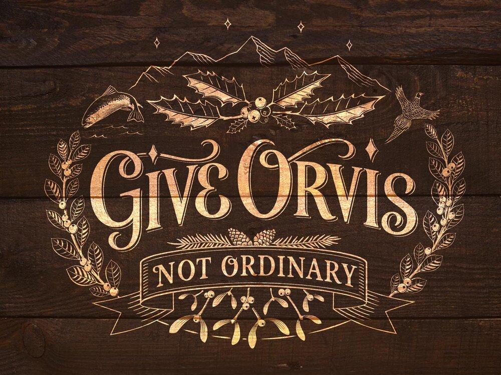 Orvis Festive Motif