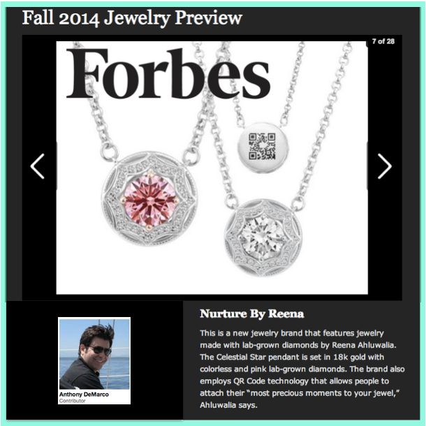 FORBES  |  25 August 2014 | Reena Ahluwalia