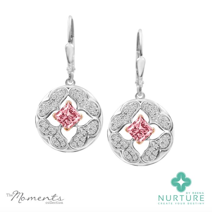Galium Earrings_NurtureByReena_ReenaAhluwalia_Pink_Lab-grown-diamonds