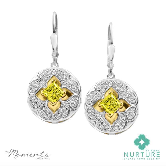 Galium earrings_Yellow-Lab-grown-Diamonds_ReenaAhluwalia_NurtureByReena