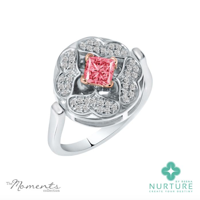 Galium ring_Pink lab-grown diamond_Reena Ahluwalia_NurtureByReena