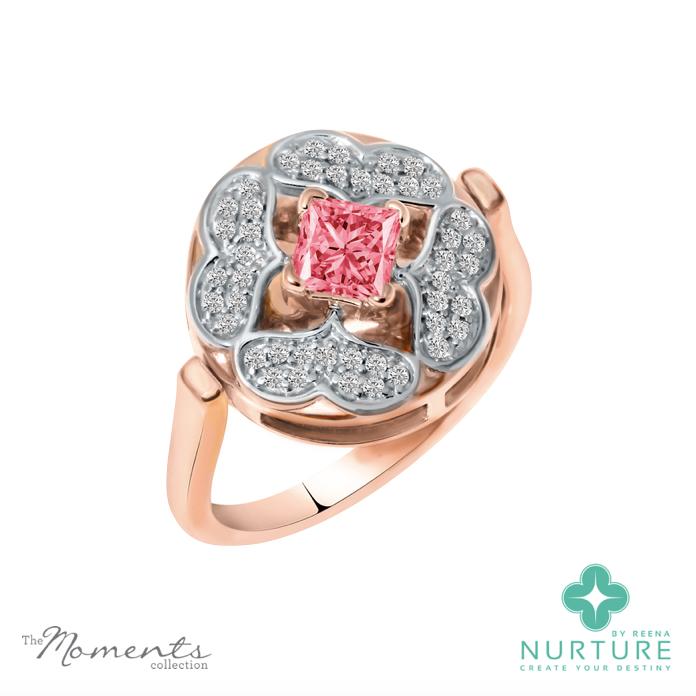 Galium ring_NurtureByReena_RoseGold_ReenaAhluwalia_Pink_Lab-grown-diamond