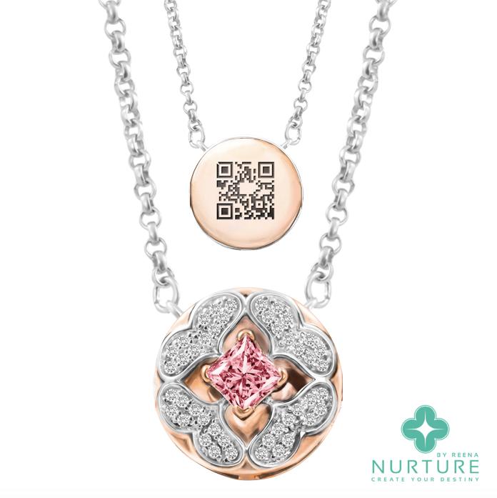 Galium pendant_NurtureByReena_ReenaAhluwalia_Lab-GrownDiamonds_Pink