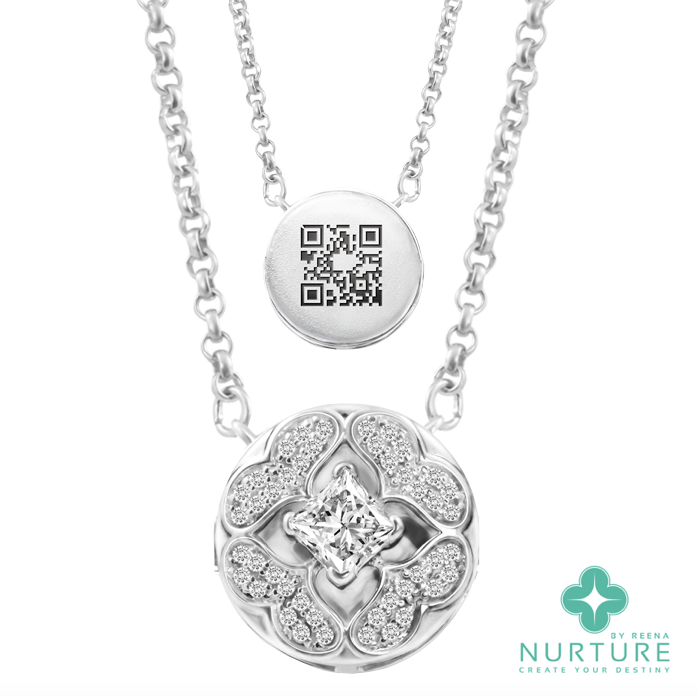 Galium pendant_NurtureByReena_ReenaAhluwalia_Lab-GrownDiamonds_Colorless