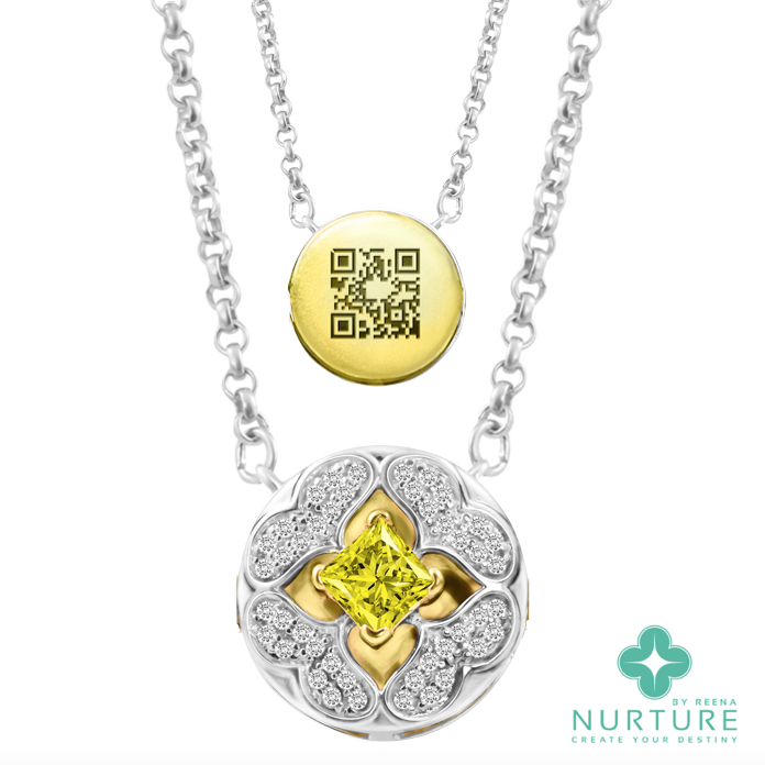 Galium pendant_NurtureByReena_ReenaAhluwalia_Lab-GrownDiamonds_yellow_1