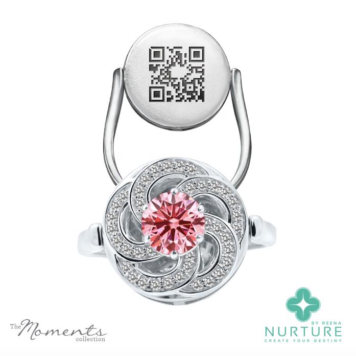 Wildflower ring_NurtureByReena_Pink Lab grown diamond2