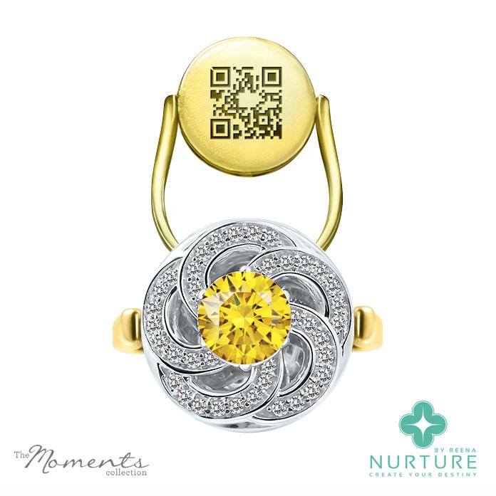 Wildflower ring_NurtureByReena_ReenaAhluwalia_Yellow_Lab-Grown Diamond