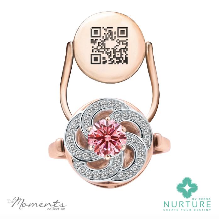 Wildflower ring_NurtureByReena_ReenaAhluwalia_Rose Gold_Pink Lab Grown Diamond