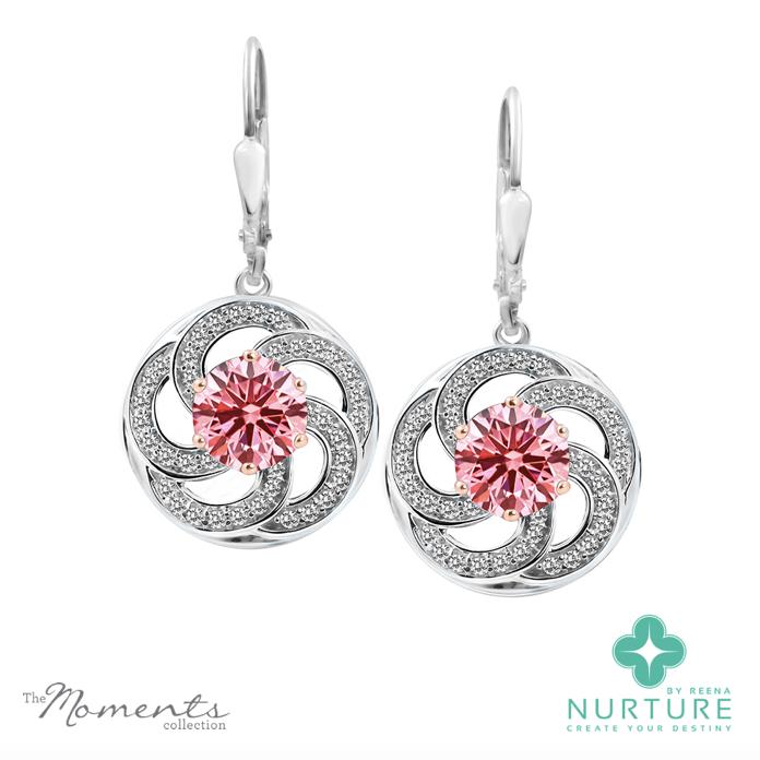 Wildflower earrings_NurtureByReena_Reena Ahluwalia_Pink_Lab-Grown-Diamonds_