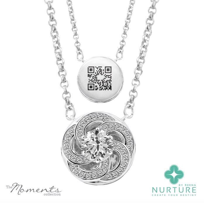 Wildflower pendant_Reena Ahluwalia_NurtureByReena_Colorless_Lab-grown-diamond