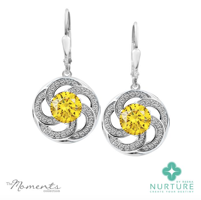 Wildflower earrings_NurtureByReena_ReenaAhluwalia_Yellow Lab-Grown Diamonds