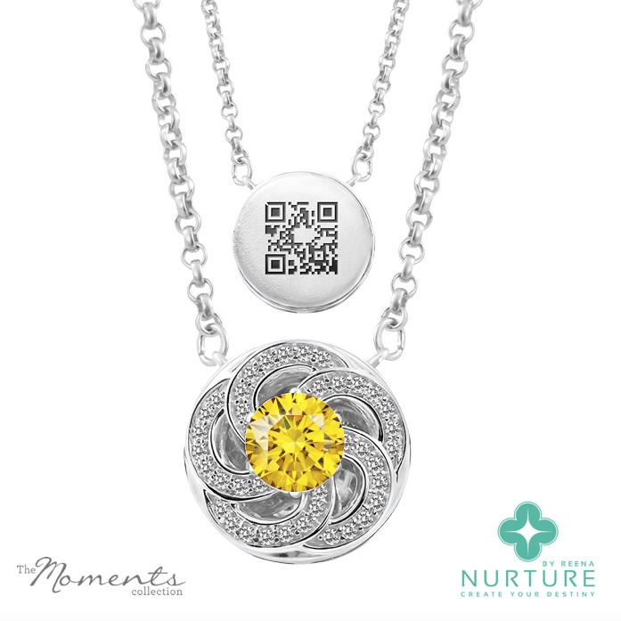 Wildflower pendant_Reena Ahluwalia_NurtureByReena_Yellow_Lab-Grown-Diamond