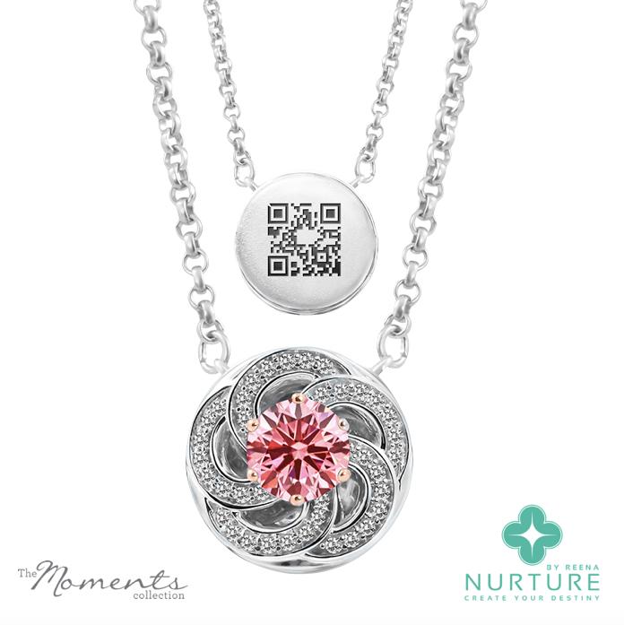 Wildflower pendants_NurtureByReena_ReenaAhluwalia_Pink_Lab-Grown_Diamond