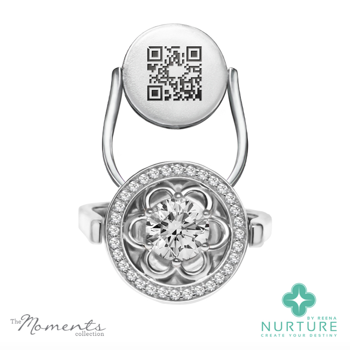 Blossom Halo ring_NurtureByReena_ReenaAhluwalia_Colorless Lab-grown diamond