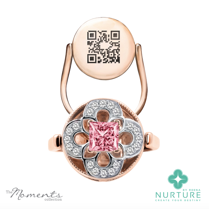 Cardamine ring_NurtureByreena_ReenaAhluwalia_Pink lab-grown diamonds