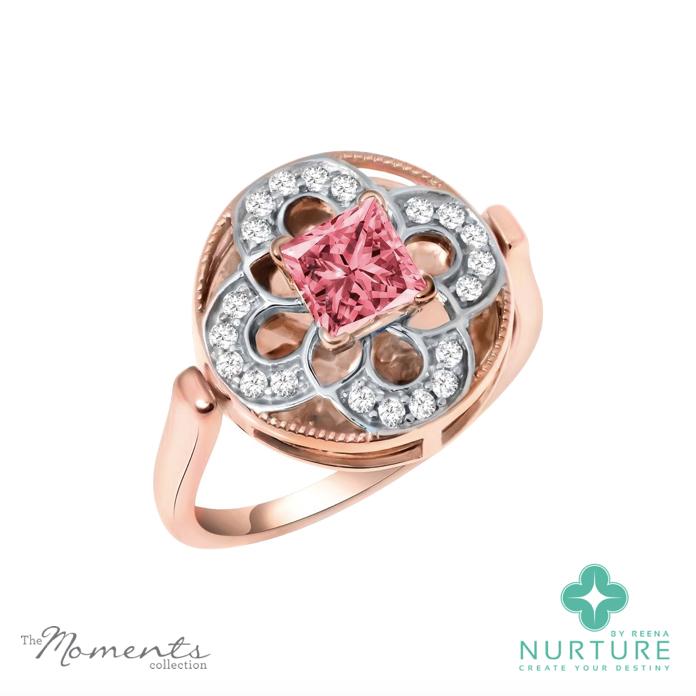 Cardamine ring_NurtureByreena_ReenaAhluwalia_Pink lab-grown diamonds1