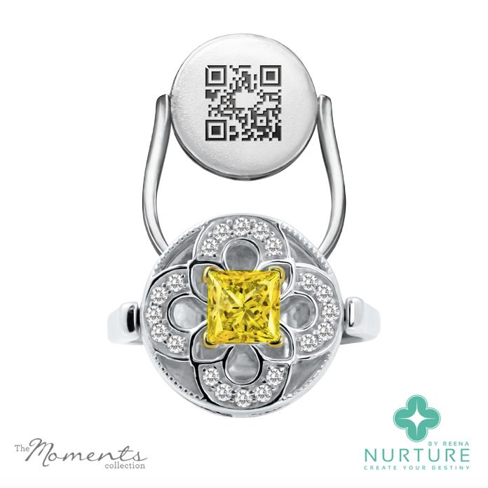 Cardamine ring_NurtureByreena_ReenaAhluwalia_Yellow lab-grown diamonds