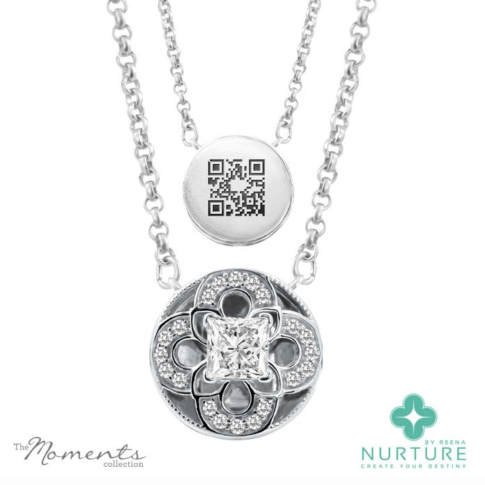 Cardamine pendant_NurtureByreena_ReenaAhluwalia_Colorless lab-grown diamonds