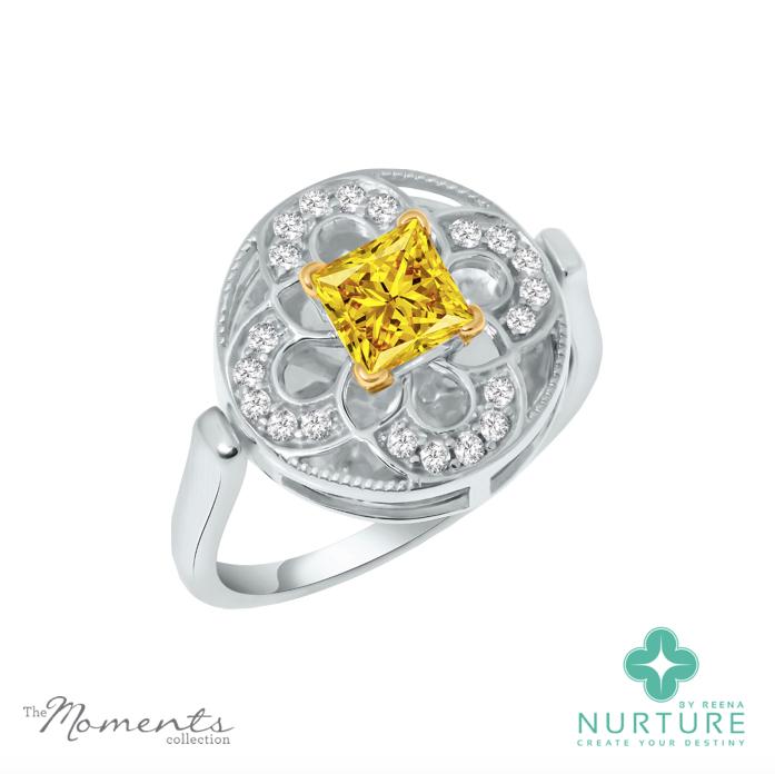 Cardamine ring_NurtureByreena_ReenaAhluwalia_Yellow lab-grown diamonds1
