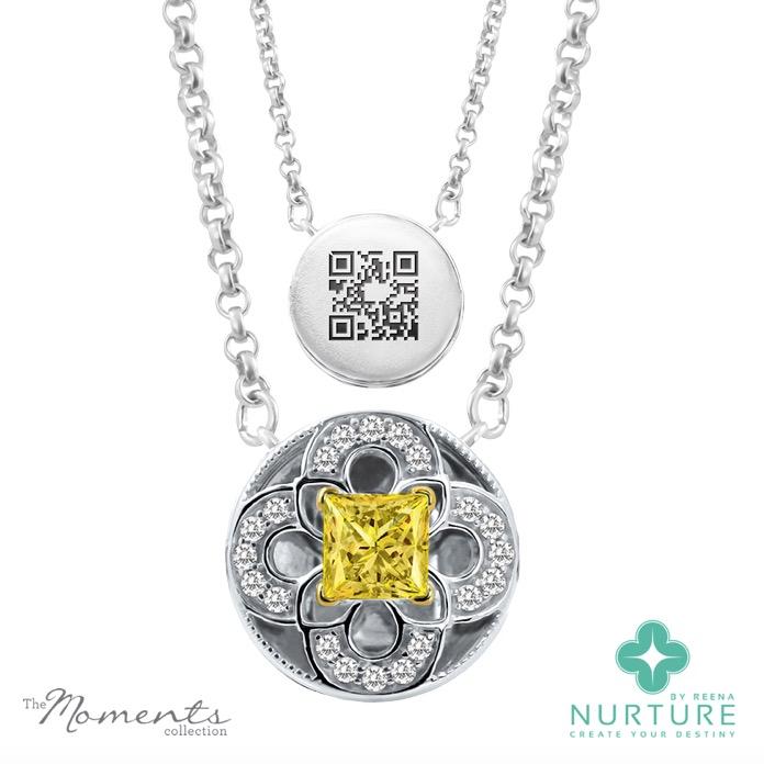 Cardamine pendant_NurtureByreena_ReenaAhluwalia_Yellow lab-grown diamonds