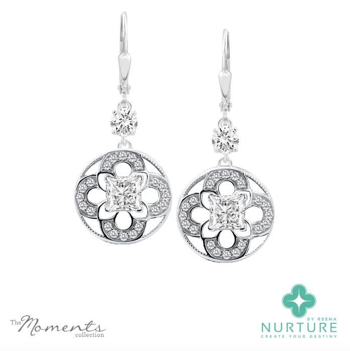 Cardamine earrings_NurtureByreena_ReenaAhluwalia_Colorless lab-grown diamonds