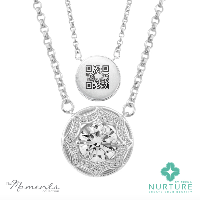 Celestial Star pendant_NurtureByreena_ReenaAhluwalia_Colorless lab-grown diamonds