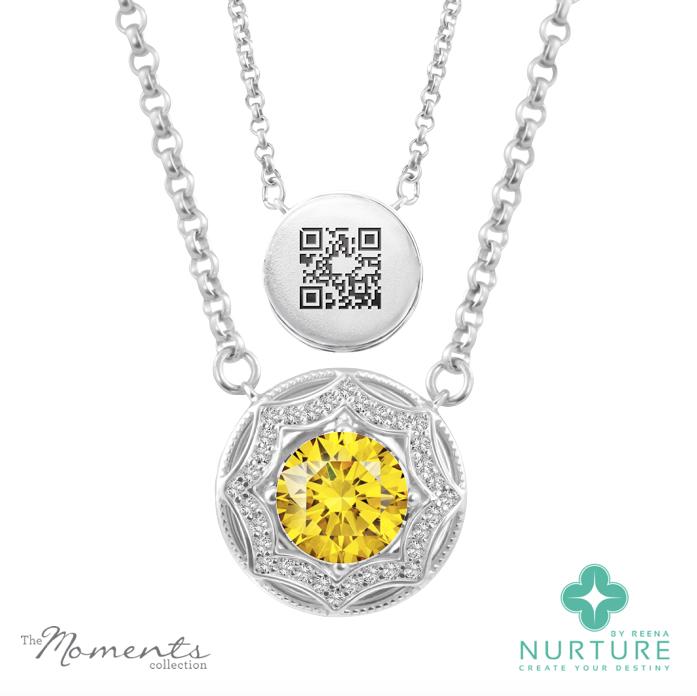 Celestial Star pendant_NurtureByreena_ReenaAhluwalia_Yellow lab-grown diamonds